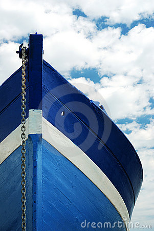 Free White And Blue Wooden Boat Stock Photo - 2994970