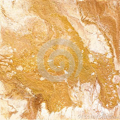 Free White And Golden Marble Texture. Hand Draw Painting With Marbled Texture And Gold And Bronze Colors. Gold Marble Royalty Free Stock Photo - 100603535