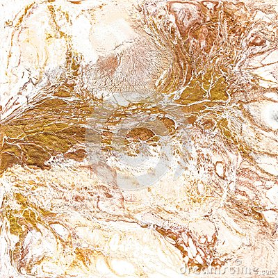 Free White And Golden Marble Texture. Hand Draw Painting With Marbled Texture And Gold And Bronze Colors. Gold Marble Royalty Free Stock Images - 100603559