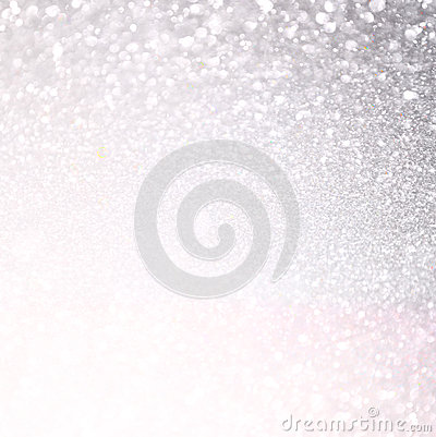 Free White And Silver Abstract Bokeh Lights. Defocused And Textured Background Stock Photography - 46495912