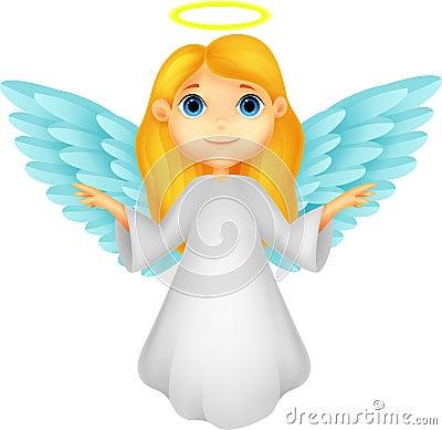 White angel cartoon