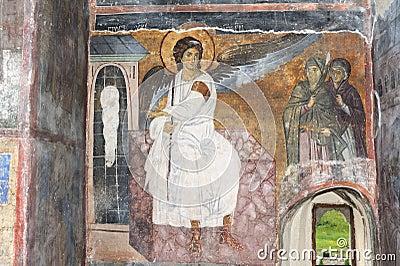 White Angel or Myrrhbearers on Christ s Grave