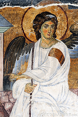 White Angel or Myrrhbearers on Christ s Grave