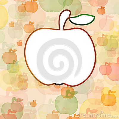 White apple on background with mult