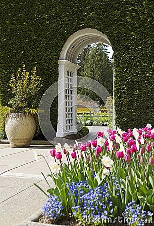 White Arch leading to garden