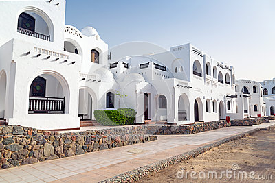 White architecture in Hurghada