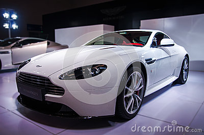 White Aston-Martin Editorial Photo
