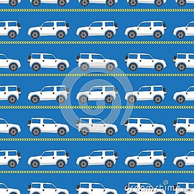 white automobiles