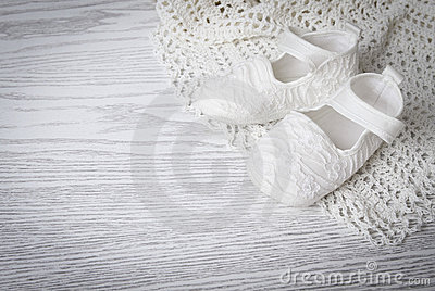 White baby boots