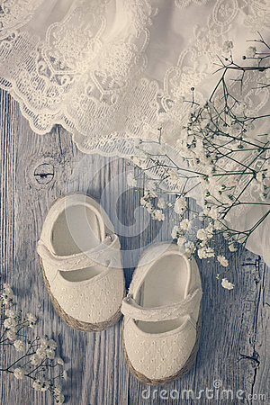 Free White Baby Girl Shoes Royalty Free Stock Image - 75786106