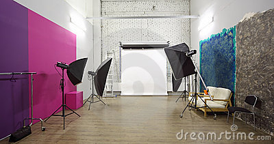 White background inside studio - light room