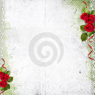 red and white roses background. WHITE BACKGROUND WITH RED