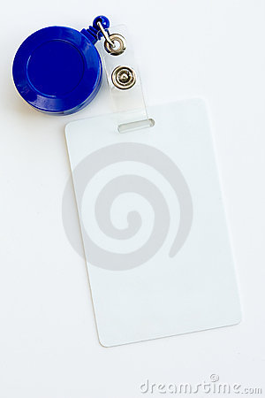 White badge ID card