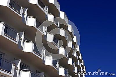 White balconies