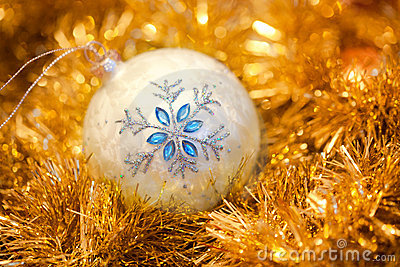 White ball with a snowflake