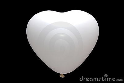 White baloon isolated