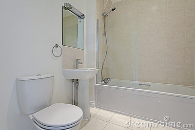 Basic bathroom suite
