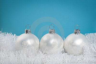 White baubles
