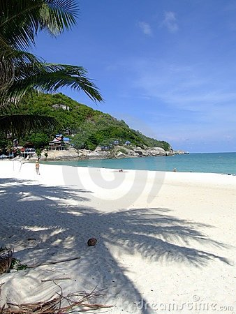 White beach, Koh Phangan, Thailand.