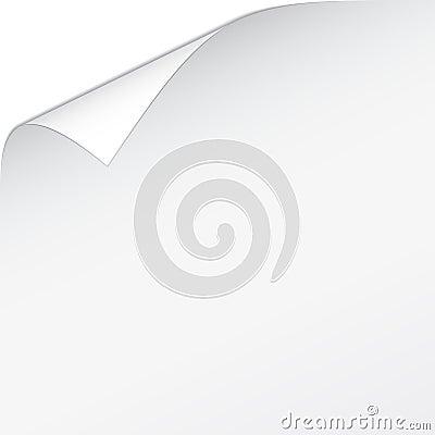 White bended paper