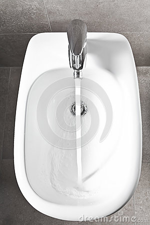 White bidet from above