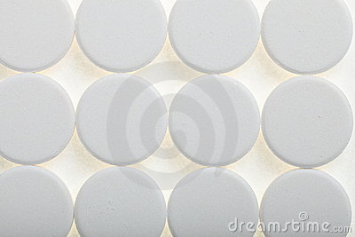 White big pills background