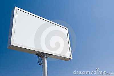 White bill board advertisement