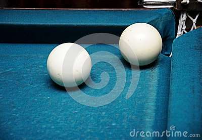 White billiard balls