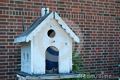 White Birdhouse