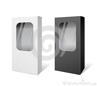 White and Black box products package