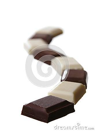 White and black chocolate