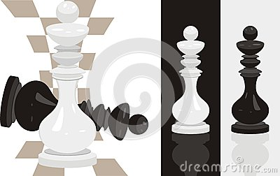 White and black king chess
