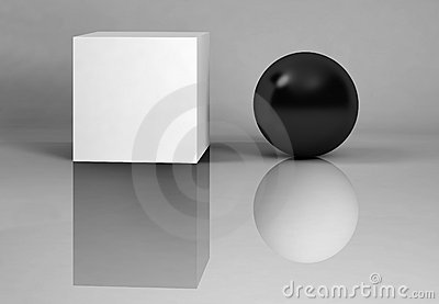 White and black - reflections.