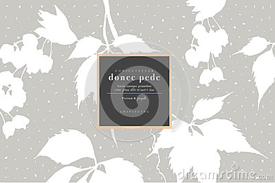 White blank with autumn maple leaves. Copy space Vector Illustration