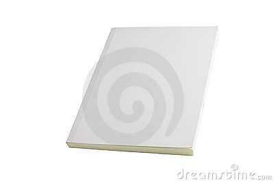 White blank book brochure