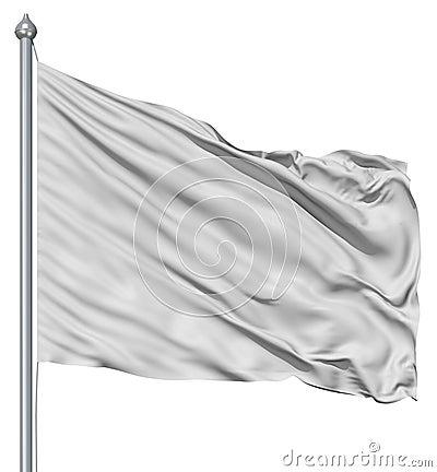 White blank flag