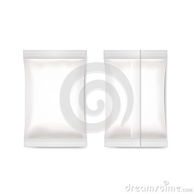 Free White Blank Foil Packaging Sachet   Vector Royalty Free Stock Images - 67260959