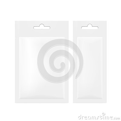 Free White Blank Foil Pouch Packaging With Hang Slot For Salt, Sugar, Sachet Royalty Free Stock Photo - 79698885