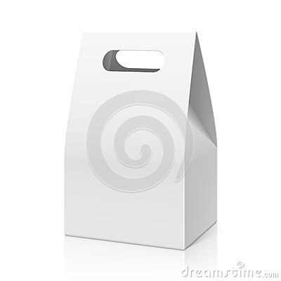 Free White Blank Hand Cake, Bread Packaging Paper Bag Royalty Free Stock Image - 40728976