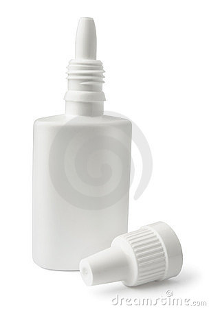 White blank nasal spray bottle