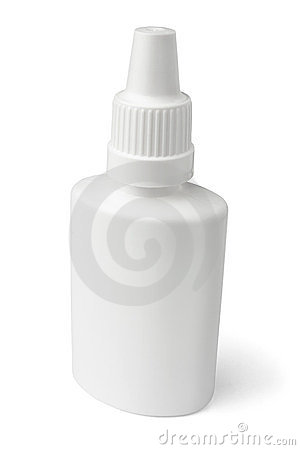 White blank nasal spray bottle