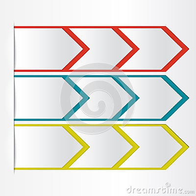 White blank paper arrow