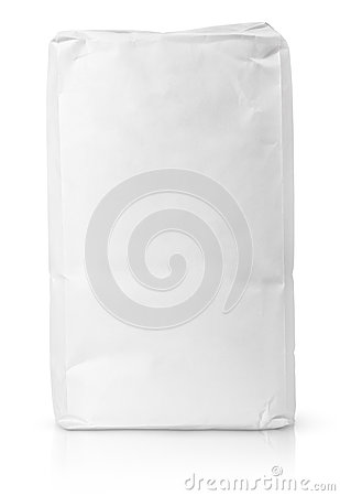Free White Blank Paper Bag Package Of Flour Royalty Free Stock Image - 51632606