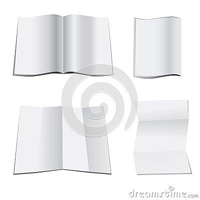 White blank paper magazine