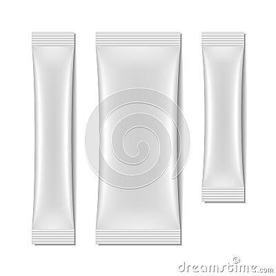 Free White Blank Sachet Packaging, Stick Pack Stock Image - 40704251