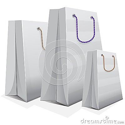White blank shopping bag
