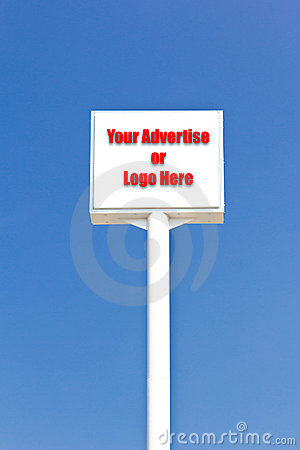 White blank sign , useful for any advertise or l