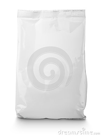 Free White Blank Snack Bag Package Royalty Free Stock Image - 57308276