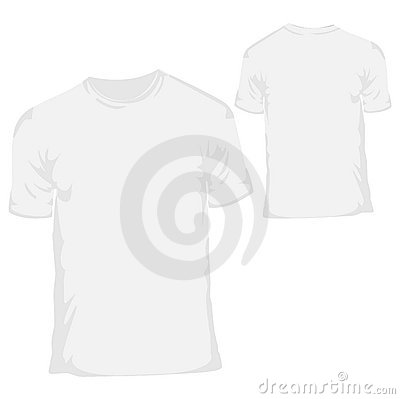 Free White Blank T-shirt Design Template For Menswear Royalty Free Stock Images - 8589579