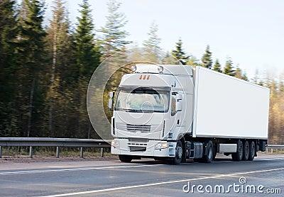 White blank truck